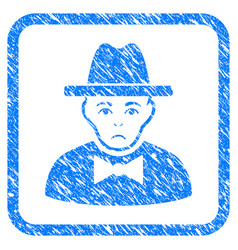 Spy framed stamp vector