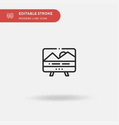 subtitles simple icon symbol vector image