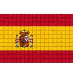 The mosaic flag of Spain vector