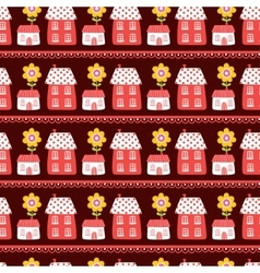 The pattern of the houses vector
