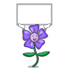 Up board periwinkle flower character cartoon vector