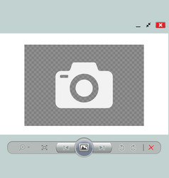 Web image viewer template vector