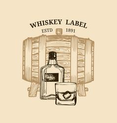 Whiskey logolabel vector