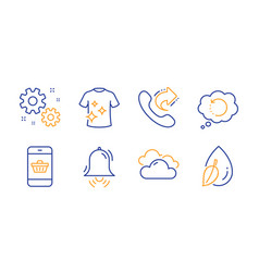 Work smartphone buying and recovery data icons vector