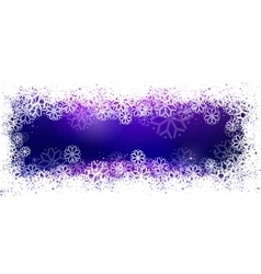Blue banner with snowflake frame vector image vector image
