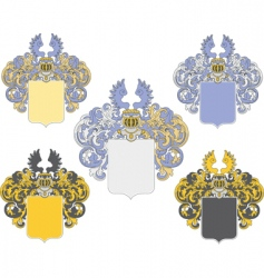 coat of arms 3 colored vector image