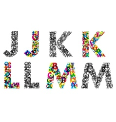 Colorful and monochrome letters vector image