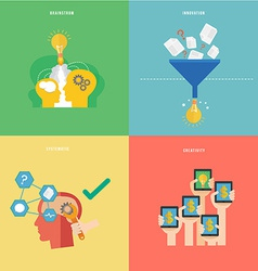 Element of creative idea and systematic thinking vector