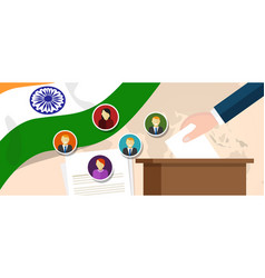 india democracy political process selecting vector image vector image
