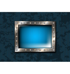 Metal window with rivets vector image