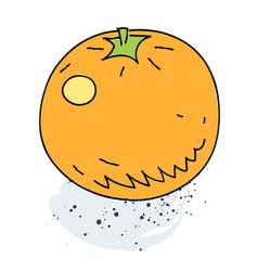 orange cartoon hand drawn image vector image