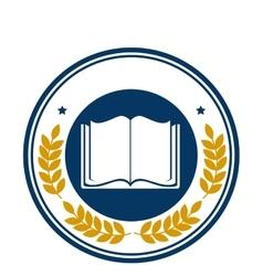 school emblem frame icon vector image vector image