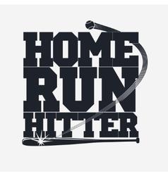 Baseball emblem for t-shirt vector image vector image