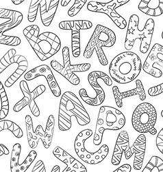 Black And White Seamless Pattern With Children vector image vector image