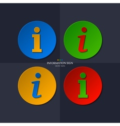 Set of information sign vector
