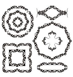Vintage frames and headers set vector image vector image