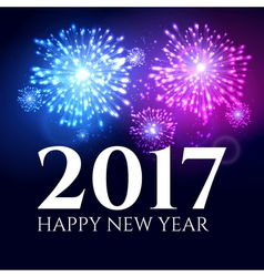 2017 new year background banner abstract firework vector image