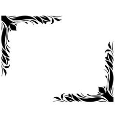 Decorative Border Style 2 Large vector image