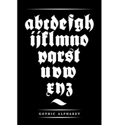 gothic font alphabet with decorations vector image vector image