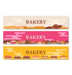 horizontal bakery banners vector image