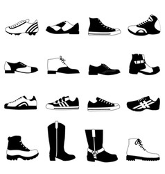 Man's shoes vector