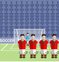 Morocco Soccer Club Penalty on a Stadium vector image vector image