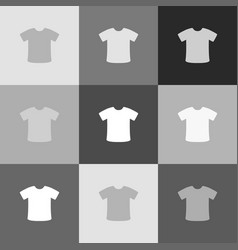 t-shirt sign grayscale version of popart vector image vector image