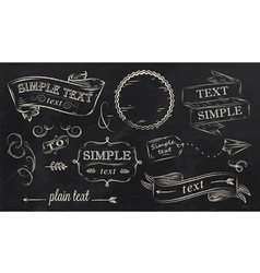 Chalk design elements vector image