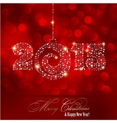 Christmas red light background vector image