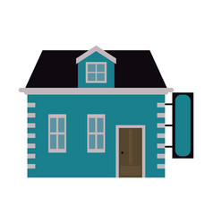 house store with blank sign icon image vector image vector image