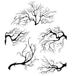 liquid branches vector image vector image