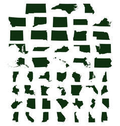 set of us states maps vector image vector image