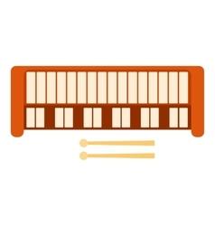 Synthesizer icon flat style vector image