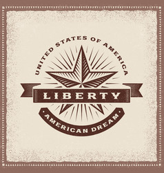 vintage liberty american dream label vector image