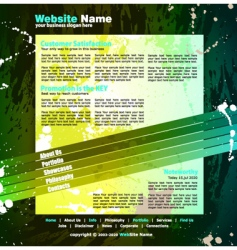 web design template vector image vector image