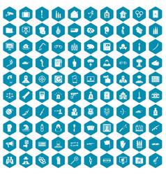 100 violation icons sapphirine violet vector