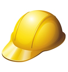 A yellow safety helmet vector