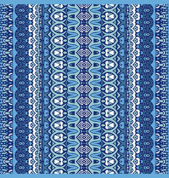 abstract geometric blue striped carpet design vector image