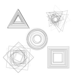 Abstract geometry shapes vector
