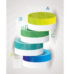 Abstract Minimal Ifographic Design on cylinder vector