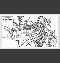 abuja nigeria city map in retro style outline map vector image