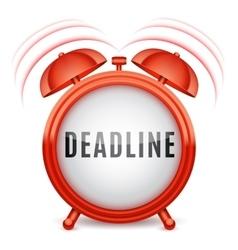 Alarm Clock with Deadline Word vector image