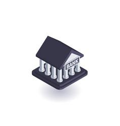 bank icon symbol vector image