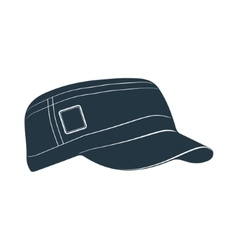 baseball cap visor headgear hat accessory vector image