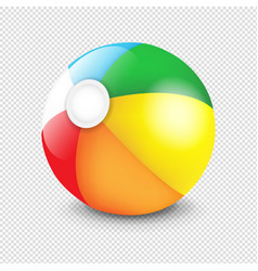 beach ball isolated transparent background vector image