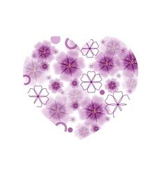 Big flower heart vector