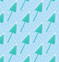 blue tree pattern vector image