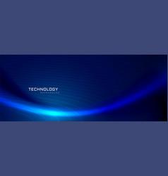 blue wave technology banner design vector image