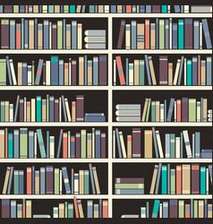 book shelf reading books creates knowledge vector image