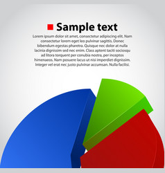 Business info graphic diagram background vector